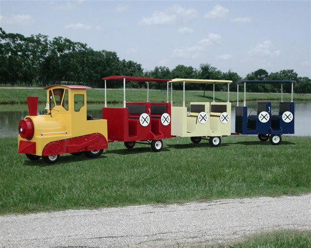 Tractor Train Rides : Lawn tractor loco conversion mylargescale