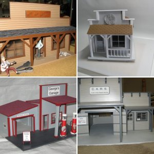 Our 1:24 acrylic buildings and our new begining