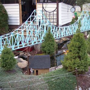 View of my 20 foot long - single track train bridge winter project