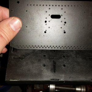 End plate with coupler mounting holes