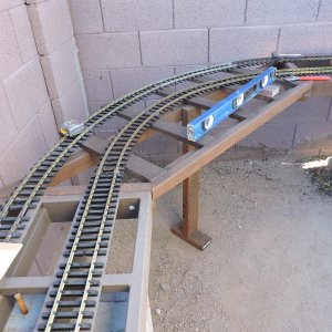 The two major loops are 325 and 450 feet of track